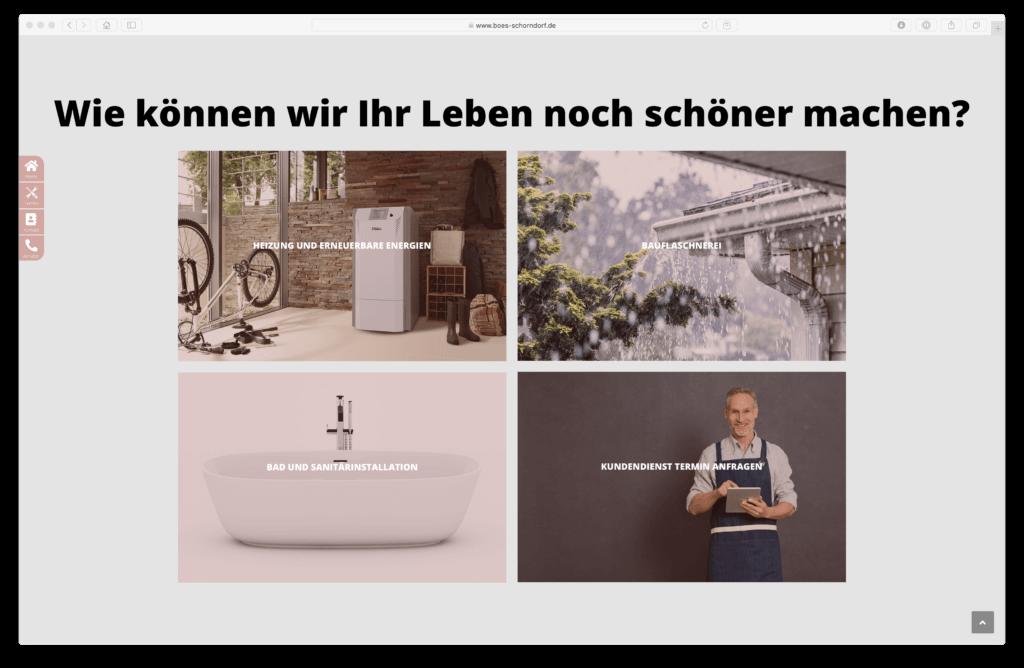 Hompage der Firma BÖS GmbH in Schorndorf
